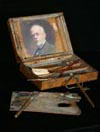 Image: Mahogany Sketch Box With Harris Self-portrait