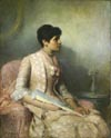 Image: Portrait Of Bessie In Her Wedding Gown