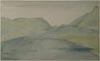 Image: Spot Sketch From China Rochi Near Beaumaris With Distant View Of Castell Dolbadarn.