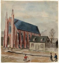 Image of painting : First Methodist Church, Charlottetown