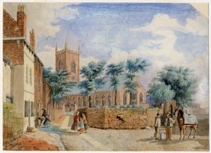 Image of painting : St. Mary's Church, Walton-on-the-hill, Liverpool, England