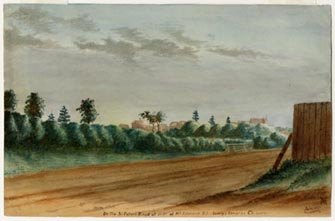 Image of painting : On St. Peter's Road At The Side Of Mount Edward Road Looking Towards Charlottetown