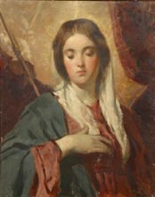Image of painting : Study Of The Madonna From The Original By Velesquez
