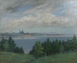 Image of painting : Charlottetown Seen From The North River